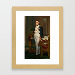 The Emperor Napoleon in his study at the Tuileries Framed Art Print