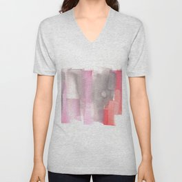 [161228] 26. Abstract Watercolour Color Study |Watercolor Brush Stroke Unisex V-Neck