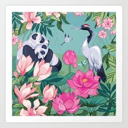 Under the Magnolia Blossom Art Print