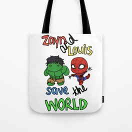Zouis Saves the World Tote Bag