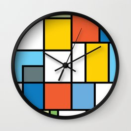 The Colors of / Mondrian Series - Simpsons Wall Clock
