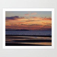 View across to Denarau Island Art Print