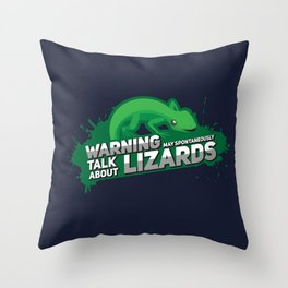 May Spontaneously Talk About Lizards I - Nature & Wildlife Gift Throw Pillow
