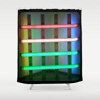 neon Shower Curtains featuring NEON by Gigo