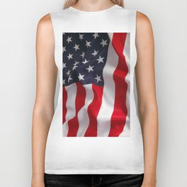 American Flag - the Stars and Stripes Biker Tank