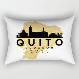 QUITO ECUADOR SILHOUETTE SKYLINE MAP ART Rectangular Pillow