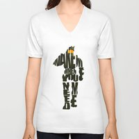 master chief V-neck T-shirts featuring Master Chief by Ayse Deniz
