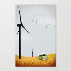 green wagon Canvas Print