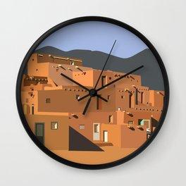 Mexico Taos Pueblo Wall Clock