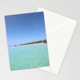 Maldivian coast (island beach) Stationery Cards