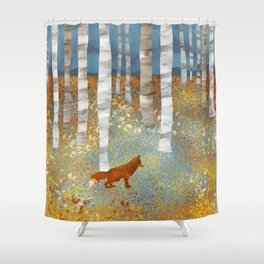 Autumn Fox Shower Curtain