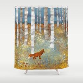 Autumn Fox Duschvorhang