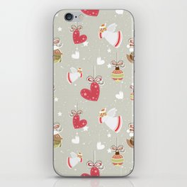 Christmas Elements Design Pattern 2 iPhone Skin