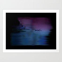60 - Kerala fishing boat & morning sky Art Print