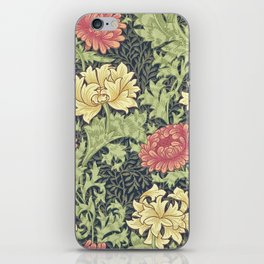 William Morris Chrysanthemum iPhone Skin