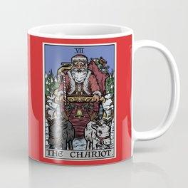 The Chariot Tarot Card Christmas Edition Coffee Mug