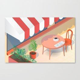 Down Time: Coffee Canvas Print