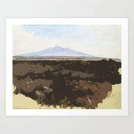 View of Mount Etna Art Print