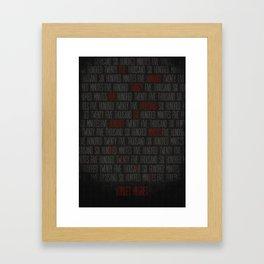 RENT  Framed Art Print