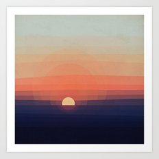 Colors Sunset Art Print