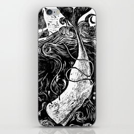 Moby Dick Wood Cut iPhone Skin