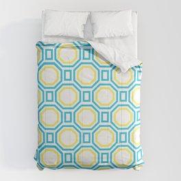 Blue Harmony in Symmetry Comforters