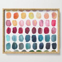 Color Palette Serving Tray