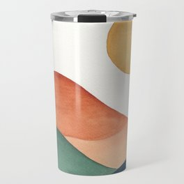 Colorful Abstract Mountains Travel Mug