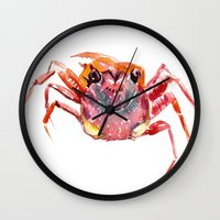 crab Wall Clocks featuring Crab by SurenArt