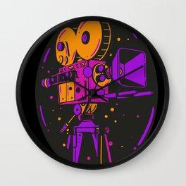 Filmmaker 70 vintage film camera cameraman gift Wall Clock