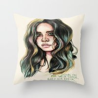 west coast Throw Pillows featuring   West Coast  by vooce & kat