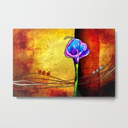 Flower vintage illustration art Metal Print