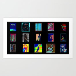 Collage of Aliens  Art Print