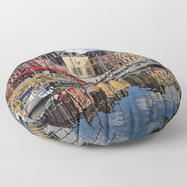 Honfleur Pretty As A Postcard Floor Pillow