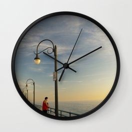Santa Monica Pier 2 Wall Clock