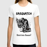 sasquatch T-shirts featuring SaSQUATch by Is It Moist?