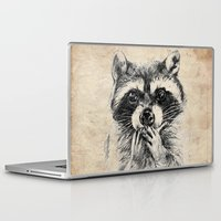 rocket raccoon Laptop & iPad Skins featuring Surprised raccoon by Anna Shell