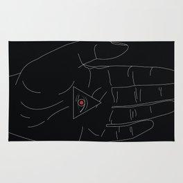 LINE #Hand (Dark) Rug