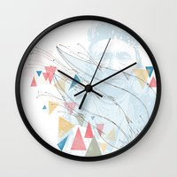 native Wall Clocks featuring Native by bri musser