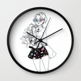 Inktober / Luna Lovegood Wall Clock
