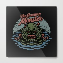 THE SWAMP MONSTER Metal Print