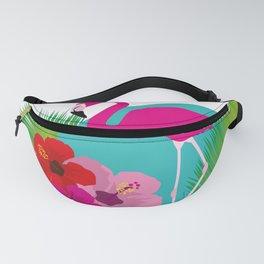 Pink flamingo tropic exotic Fanny Pack