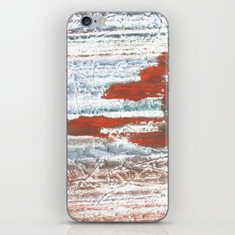 Orange blue marble wash drawing iPhone Skin
