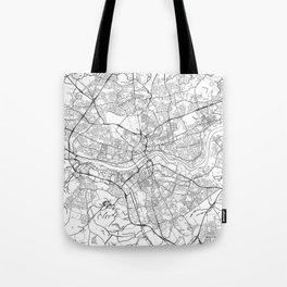 Newcastle Upon Tyne Map White Tote Bag
