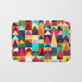 Abstract Geometric Mountains Bath Mat
