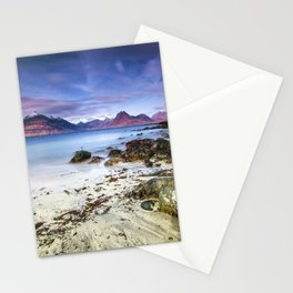 Beach Scene - Mountains, Water, Waves, Rocks - Isle of Skye, UK Stationery Cards