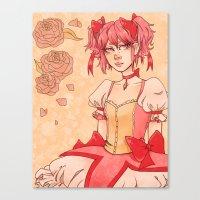 madoka magica Canvas Prints featuring Madoka by auroraghost