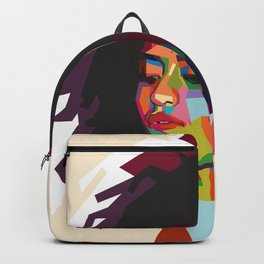 beautiful frizzy girl Backpack