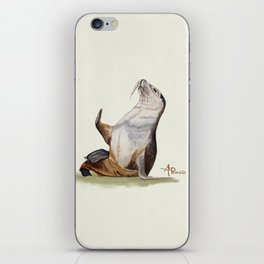 Sea Lion Watercolor iPhone Skin