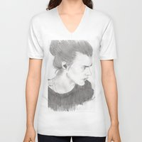 harry styles V-neck T-shirts featuring harry styles by stylin_art